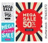 modern sale banner set ... | Shutterstock .eps vector #576631372