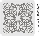 monochrome icon with celtic art ...   Shutterstock .eps vector #576632425