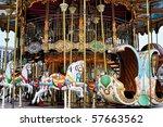 vintage carousel. photo taken...   Shutterstock . vector #57663562