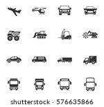 transport vector icons for user ... | Shutterstock .eps vector #576635866