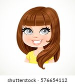 beautiful brunette girl with... | Shutterstock .eps vector #576654112