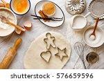 baking ingredients and food... | Shutterstock . vector #576659596