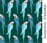 parrot  pattern   Shutterstock .eps vector #576663832
