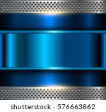 metallic background  blue metal ... | Shutterstock .eps vector #576663862
