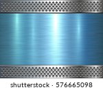 metallic background  blue metal ... | Shutterstock .eps vector #576665098