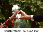 indian wedding couple | Shutterstock . vector #576665152