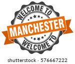 manchester. welcome to... | Shutterstock .eps vector #576667222