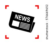 newspaper sign. black icon in... | Shutterstock .eps vector #576669652