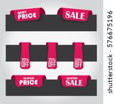 promotional label set with... | Shutterstock .eps vector #576675196