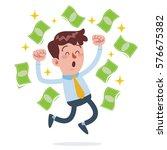 vector stock of a businessman... | Shutterstock .eps vector #576675382