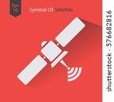 satellite icon. simple flat... | Shutterstock .eps vector #576682816