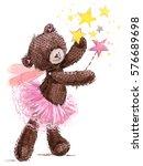 Cute Teddy Bear Watercolor...