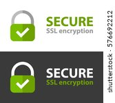 secure connection icon....   Shutterstock .eps vector #576692212