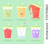 set of colored lemonade with... | Shutterstock .eps vector #576705862