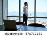 confident young executive... | Shutterstock . vector #576713182
