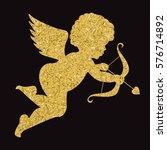 Golden Angel Silhouette On...