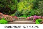 Stairs In A Flower Garden...