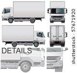 vector delivery   cargo truck | Shutterstock .eps vector #57671920