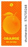 orange juice. vertical vector...   Shutterstock .eps vector #576735268
