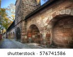 wall at nuremberg  germany | Shutterstock . vector #576741586