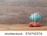 easter holiday concept with egg ... | Shutterstock . vector #576742576
