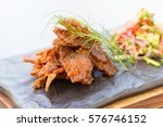 Crispy Fried Slice Beef With...