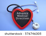 stethoscope and red love with... | Shutterstock . vector #576746305