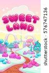 beautiful fantasy sweet world... | Shutterstock .eps vector #576747136