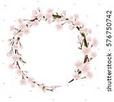 cherry blossom wreath | Shutterstock .eps vector #576750742