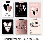 love collection with 6 cards in ... | Shutterstock .eps vector #576753046