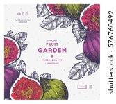 fig fruit vintage design... | Shutterstock .eps vector #576760492