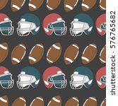seamless pattern with sports... | Shutterstock .eps vector #576765682