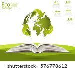 globe on opened book. the... | Shutterstock .eps vector #576778612