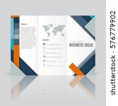 business templates for tri fold ... | Shutterstock .eps vector #576779902