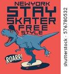 cool skater dinosaur | Shutterstock .eps vector #576780532