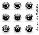 Set Of 9 Glossy Web Icons  Set...
