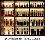 various alcohol bottles in a... | Shutterstock . vector #576786586