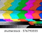 television screen with static... | Shutterstock . vector #576793555