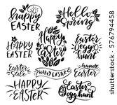 set of hand drawn  lettering... | Shutterstock .eps vector #576794458