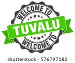 tuvalu. welcome to tuvalu stamp | Shutterstock .eps vector #576797182