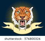 portrait of a grin  the saber...   Shutterstock .eps vector #576800326