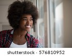 portrait of a young beautiful... | Shutterstock . vector #576810952