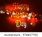 happy valentines day abstrac...   Shutterstock .eps vector #576817702