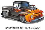 Vector Cartoon Hot Rod  ...