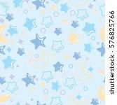 night pattern. background for...   Shutterstock .eps vector #576825766