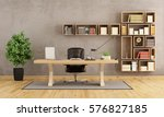 office with wooden furniture... | Shutterstock . vector #576827185