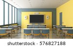 contemporary colorful classroom ... | Shutterstock . vector #576827188