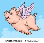 Fantasy Flying Pig