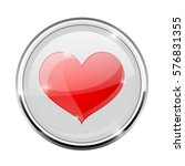heart symbol in round chrome... | Shutterstock .eps vector #576831355
