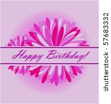 happy birthday card | Shutterstock .eps vector #57683332